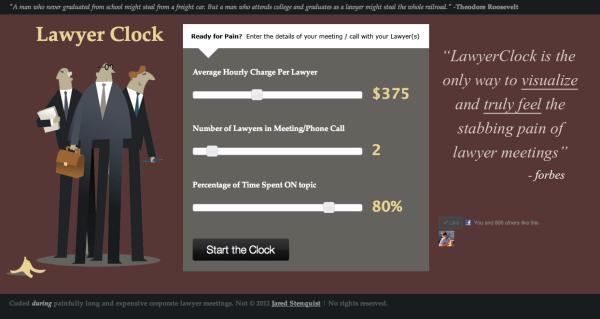"""Jared Stenquist's """"Lawyer Clock"""""""